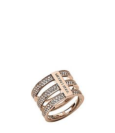 Michael Kors Brilliance Motif Tri Stack Open Pave Bars Ring #Dillards