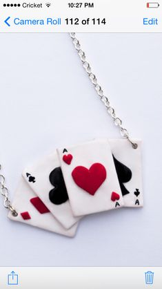 Ace card necklace