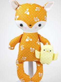 bit of whimsy dolls...fox baby pdf pattern...