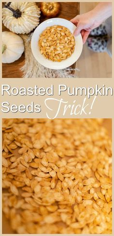 You'll never guess what I use to make the best roasted pumpkin seeds! Hint: you would find it in the bathroom. :)
