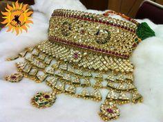"Rajputi ""Aad"" Indian Wedding Jewelry, Indian Jewelry, Bridal Jewellery, Fashion Jewellery, Gold Jewellery, Rajputi Jewellery, Pearl Necklace Designs, Jewellery Sketches, Silver Anklets"