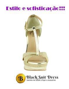 #sapato #acessorios #festa #casamento #formatura #debutante #chic #sapatofeminino   Acesse http://blacksuitdress.com.br/calcados-5