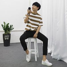 You can find Korean fashion men and more on our website. Korean Fashion Summer, Korean Fashion Trends, Korean Street Fashion, Korea Fashion, Kpop Fashion, Asian Fashion, Korean Male Fashion, Korean Men, Tall Men Fashion
