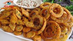 Onion Rings, Shrimp, Good Food, Food And Drink, Potatoes, Snacks, Quiches, Waffle, Ethnic Recipes