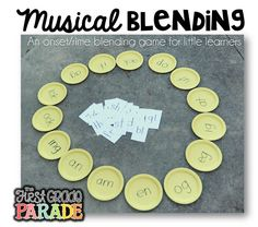 Musical blending - decoding real and nonsense words (whole group phonics game)