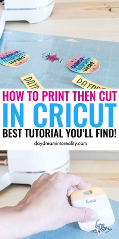 Today you are going to learn – whether you have Maker or Explore – how to Print and Cut images with your Cricut. To cut printables, stickers, and other types of images you need to use the Print then Cut setting. Cricut Air 2, Cricut Help, Cricut Vinyl, Vinyl Crafts, Vinyl Projects, Printable Htv, Cricut Print And Cut, Cricut Tutorials, Cricut Ideas