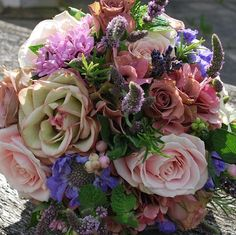 English country garden bridal bouquet