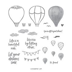 Air Balloon, Balloons, Cloud Tutorial, Bridge Card, Above The Clouds, Friendship Cards, Perfect Image, Ink Pads, Masculine Cards