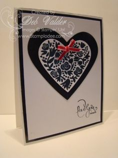 Flowerfull Heart Stamp #Valentine for the #Troops