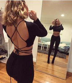 top strap wrap around backless top shirt black crop top open back strapp black blouse one piece black shirt cute strappy shirt tie strap jumpsuit tie top strings crop tops black crop top tank top backless backless top crop tops going out top strappy criss cross back it's a black tight crop top