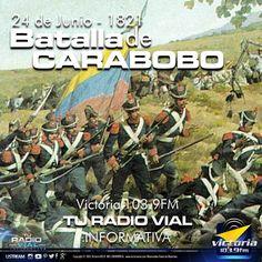 Hoy recordamos una vez más de la gesta histórica que marcó de forma decisiva la independencia de #Venezuela, la #BatallaDeCarabobo.