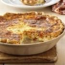 Ham and cheese quiche - freeze