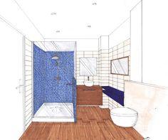 Les relookings d co de sophie ferjani d coratrice de l for Croquis de salle de bain