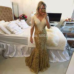 Elegante Lace sereia mãe da noiva Vestidos 2016 V Neck Backless pérolas Vestidos vestido Foraml Vestidos em Vestidos para a Mãe da Noiva de Casamentos e Eventos no AliExpress.com | Alibaba Group