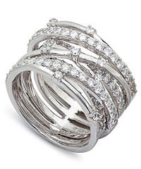 Crislu Sterling Platinum Entwined CZ Ring. Available at Carats in Stockton, CA!