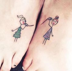 Best sister matching tattoo designs and ideas which are meaningful. Sibling tattoos designs and ideas, Small sister tattoos and ideas, unique tattoo ideas, Partner Tattoos, Sibling Tattoos, Bff Tattoos, Trendy Tattoos, Tattoo You, Unique Tattoos, Small Tattoos, Tattoos For Guys, Tattoo Quotes