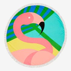 This super cute towel features a stylish flamingo design. In a unique round shape, it will be the funnest style on the beach. Flamingo Beach, Pink Flamingos, Seed Heritage, Swimming Gear, Beach Print, La Jolla, Beach Towel, Backgrounds, Super Cute