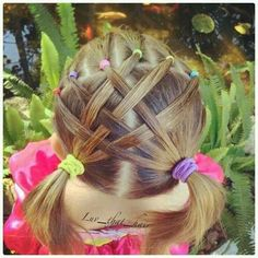 Adorable, simple hairstyle for young girls