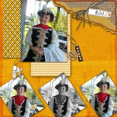 I created this layout with the Trick or Treat set from Broken Jar creations.  this is my pirate daughter Brittany.