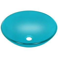 Polaris Sinks Glass Vessel Sink In Turquoise   P106 Turquoise   The Home  Depot