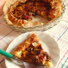 Torta Salata Zucca, Funghi e Speck