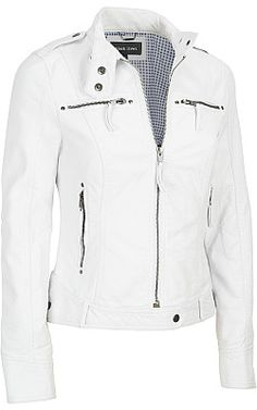 Black Rivet Stand Collar Faux-Leather Scuba Jacket - Wilsons Leather