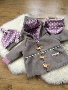 Jacken - ♥ Babyjacke/3 tlg.Set gr.68♥ - ein Designerstück von Creative-Happiness bei DaWanda
