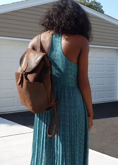Vintage J Crew Brown Distressed Suede Leather Backpack by ModDesir