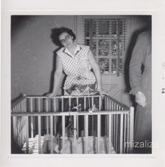 Vintage Strange and Eerie Photo Woman With Playpen by delphiniumsblue on Etsy, $5.00