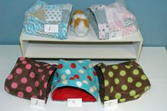 Guinea Pig Snuggle multi sizes small animal pouch 9x9