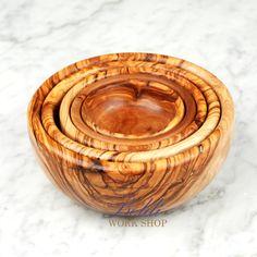 Gift Idea Handcrafted Olive  Wood Salad Bowl Set by Beldiworkshop, $50.00