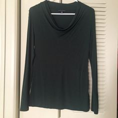 Banana Republic Forest Green Cowl Blouse Size small. Forest green color. Excellent condition. Banana Republic Tops Blouses