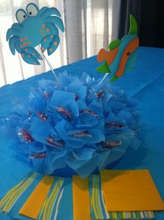 Centro de mesa / Fiesta Mar  table centerpiece / Sea Party