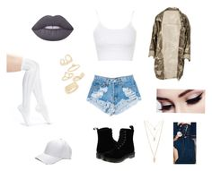 """""""Untitled #18"""" by nobiebey on Polyvore featuring Levi's, Topshop, Arthur George, Dr. Martens, Lime Crime and Forever 21"""