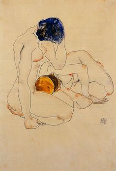 Two Friends, 1912 Egon Schiele