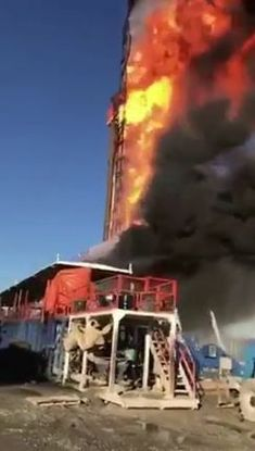 Emergency officials have shifted to a recovery mission after the five missing employees from the gas rig explosion near Quinton on Monday are being presumed dead. Oilfield Trash, Oilfield Life, Drilling Rig, Oil Industry, Oil Rig, Oil And Gas, Rigs, Oil Field, Things Happen