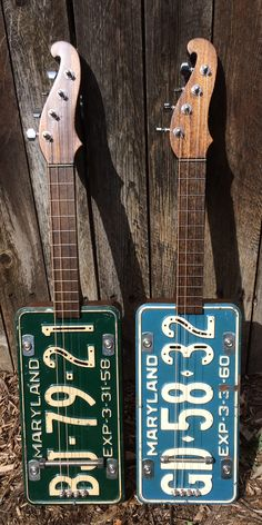 Mandolins and ukuleles. These are some of the oldest plates I've  ever used.  Visit: www.innerstatemusiccompany.com