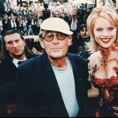 Helmut Newton and Eva Herzigova, Cannes Festival 1996