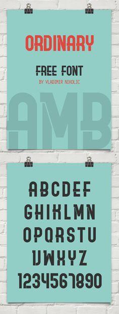 Ordinary Free Font #freebies #freefonts #branding #typeface #typography #scriptfonts #brushfonts #handwrittenfonts