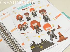 This sticker set includes 21 stickers of various sizes designed to be used in your planner or calendar. Each set comes on sheets of individually