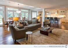 Open kitchen 15 Close to Perfect Traditional Open Living Room Ideas