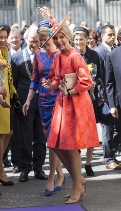 Queen Maxima of The Netherlands and Queen Mathilde of Belgium Open Sculpture Exhibition Vormidable on May 2015 in The Hague, Netherlands. Trendy Outfits, Cool Outfits, Amazing Outfits, Dutch Queen, La Haye, Derby Day, The Hague, Queen Maxima, Princess Style
