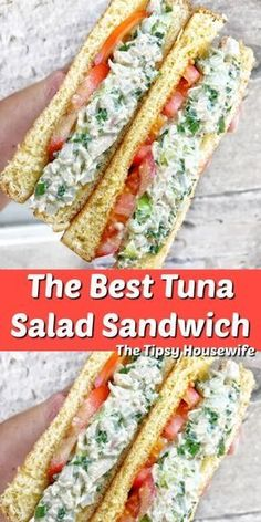 Tuna Salad Sandwich with Pickles, Onions and the best mayonnaise. Tuna Salad Sandwich with Pickles, Onions and the best mayonnaise. Tuna Sandwich Recipes, Tuna Salad Sandwiches, Panini Sandwiches, Tuna Salad Recipes, Healthy Tuna Sandwich, Best Tuna Salad Recipe, Healthy Tuna Recipes, Sandwiches For Lunch, Finger Foods