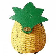 $18.60 Summer Pineapple Shape and Weaving Design Crossbody Bag For Women