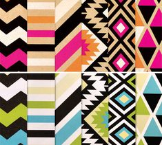 Gorgeous bright striped wrapping paper from Inky Co.