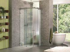 Sklenená sprcha so špičkovým posuvným kovaním VIVERE a 5 ročnou zárukou. Nemecká kvalita. Využitie aj pre sklenené dvere do výklenkových, rohových, kruhových alebo U-tvar spŕch.