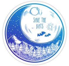 """Save the Bats!"" Stickers by Hannah Diaz Kawaii Halloween, Halloween Bats, Framed Prints, Canvas Prints, Art Prints, Laptop Stickers, Sticker Design, Glossier Stickers, Ipad Case"