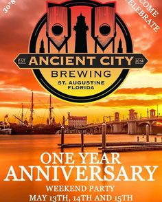 #fun @ancient.city.brewing  Save the date! This is going to be insane! Check out the event page on Facebook to see everything that is going on during this weekend.  #AncientCityBrewing #StAugBeer #StAugCraftBeer #FlBeer #StAugustine #StAugustineBeer #DrinkLocal #drinkjax #igersjax #904staugustine #staugustinebuzz #ACB1year