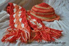 szalik i czapka na szydełku  crochet scarf and cap