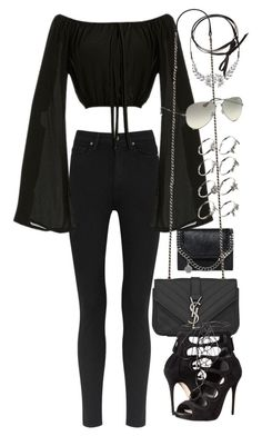"""""""Untitled #2067"""" by eleanorwearsthat ❤ liked on Polyvore featuring Paige Denim, STELLA McCARTNEY, Yves Saint Laurent, Fallon, ASOS, Ray-Ban and Alexander McQueen"""